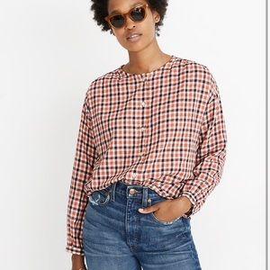 NWOT Madewell Meadow Check Shirt